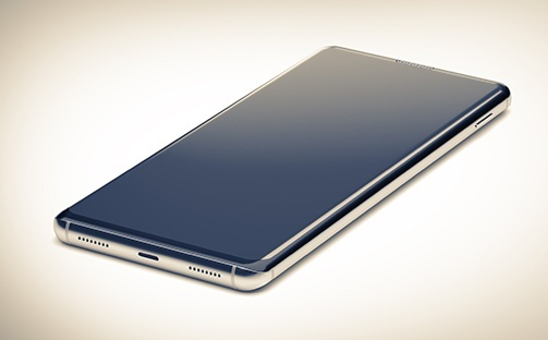 phone flat and curved screen