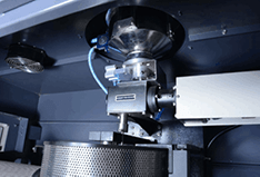 air jet erosion tester internal view from Rtec Instruments