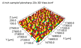 cmp polisher pad void image from 3d optical microscope
