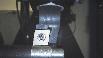 cutting tool on block on ring drive to simulate cutting process