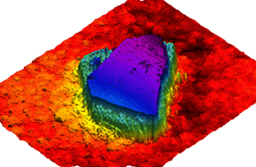 Diamond surface  data using rtec 3d optical microscope