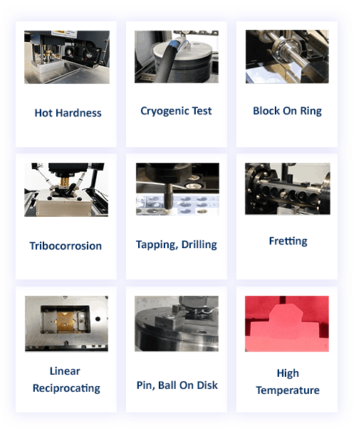 Materials tribology summary on Rtec Instruments tribometer