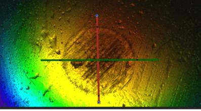 srv test ball scar image using 3D optical microscope