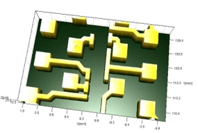 wafer using optical 3d microscope