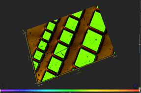 wafer topography using optical 3d microscope